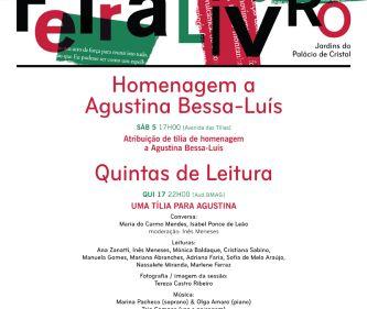 Ciclo 'Quintas de Leitura' presta homenagem à obra de Agustina